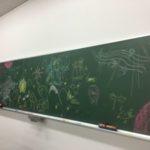 宮沢賢治「イーハトーボ農学校の春」黒板アート